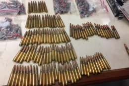 A collection of explosive-tipped ammunition that Bailey had stored in his bunker. (Photo courtesy of U.S. Attorney's Office)