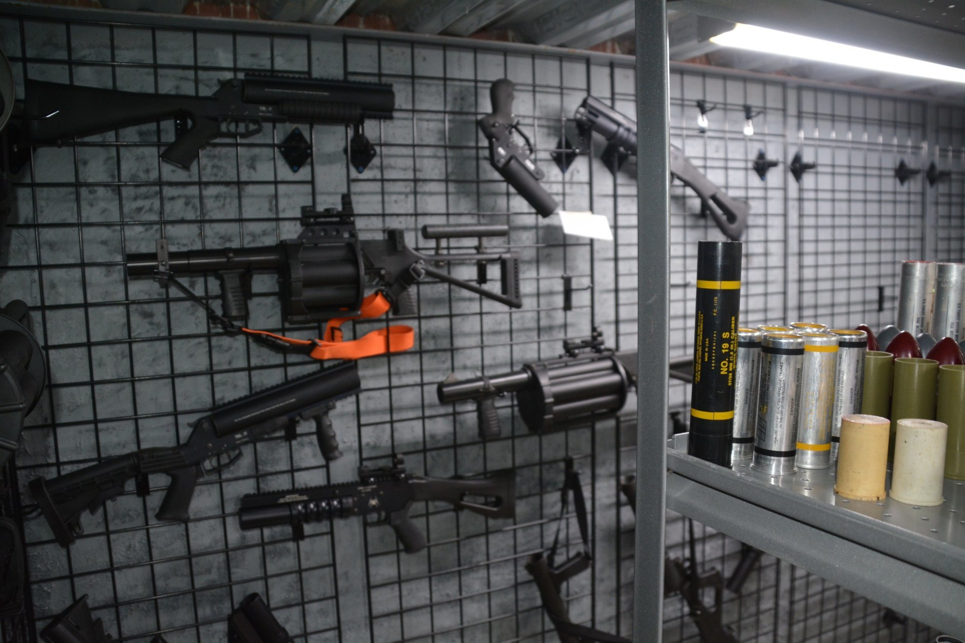 A collection of guns and explosive devices that Bailey had stored in his bunker. (Photo courtesy of U.S. Attorney's Office)
