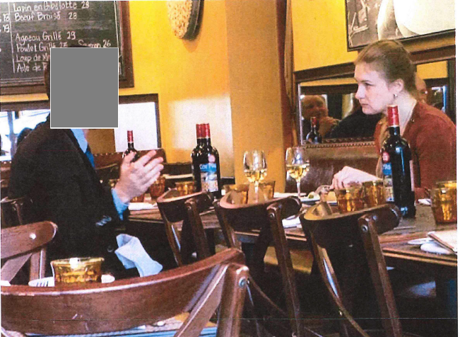 FBI photographed Maria Butina meeting with an a suspected Russian intelligence agent. (Courtesy FBI)