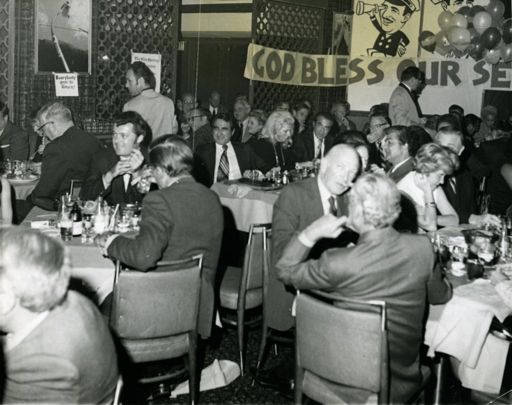 The faithful boozed it up at Duke's 20th anniversary celebration. (Courtesy Historical Society of Washington, D.C.)