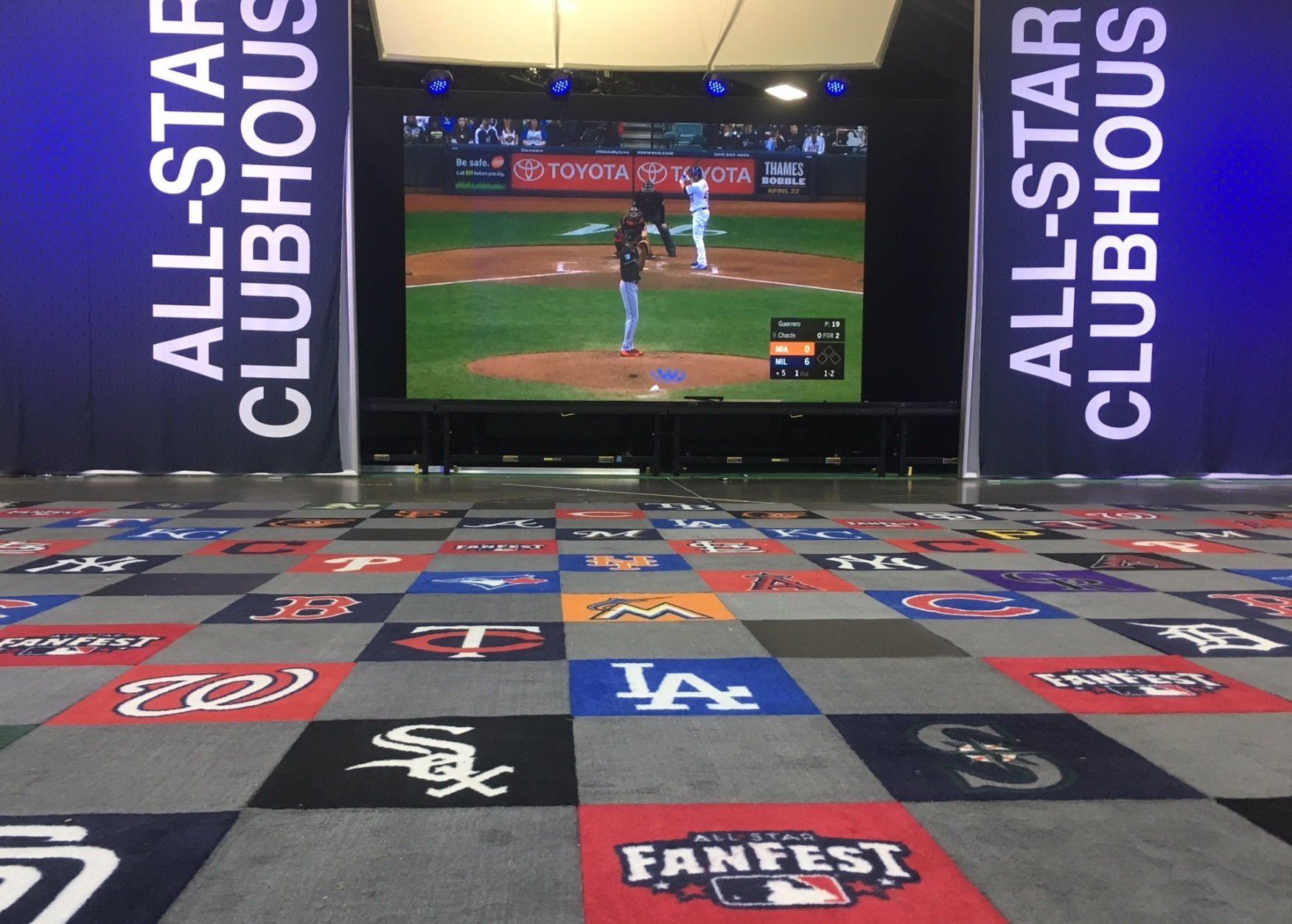 While the programming is D.C.-heavy, there's something for fans of every team throughout the exhibition. (WTOP/Noah Frank)