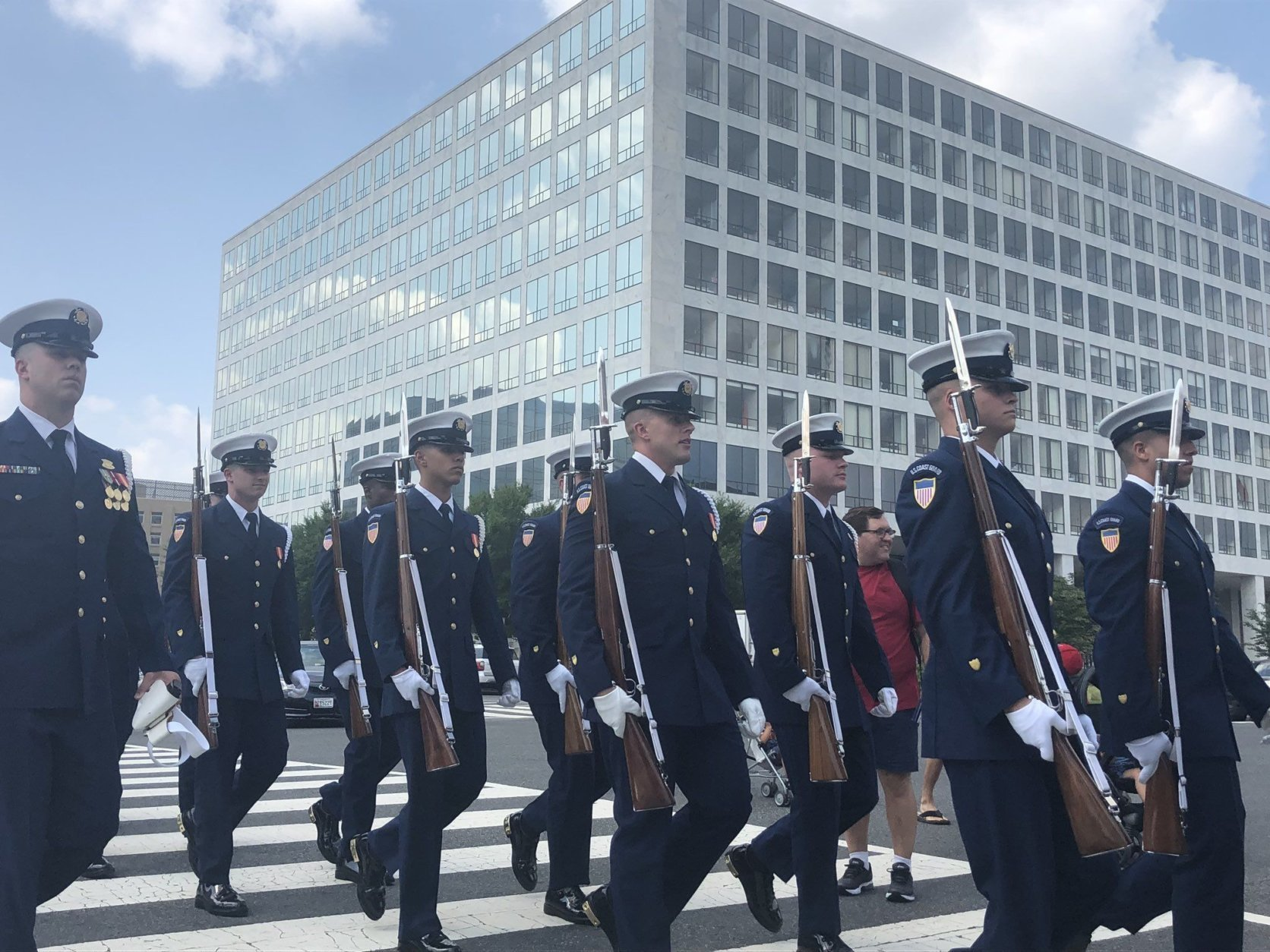 A view of the parade in D.C. on Fourth of July 2018. (WTOP/Melissa Howell)