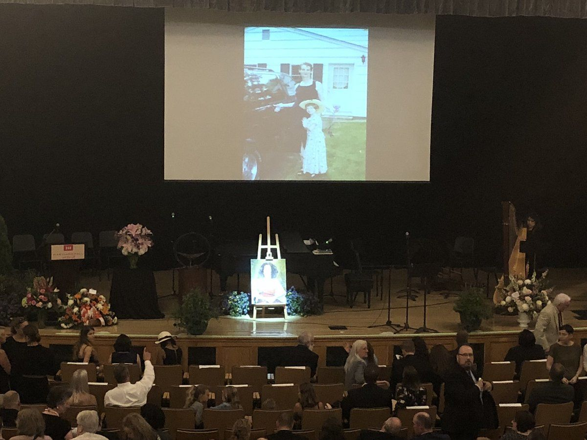 Wendi Winters' memorial service took place at the Maryland Hall for the Creative Arts in Annapolis, Maryland. (WTOP/Melissa Howell)
