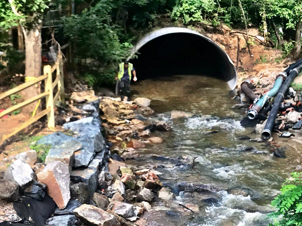 Under the just-approved flood mitigation plan, the channel which carries water through Ellicott City will be widened and deepened. (WTOP/Neal Augenstein, file)