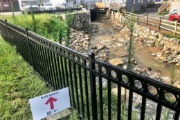 In historic, flood-prone Ellicott City, the downtown shopping district has canal sneaking below businesses and homes. Despite the flood warning until All fine along the canal this morning.