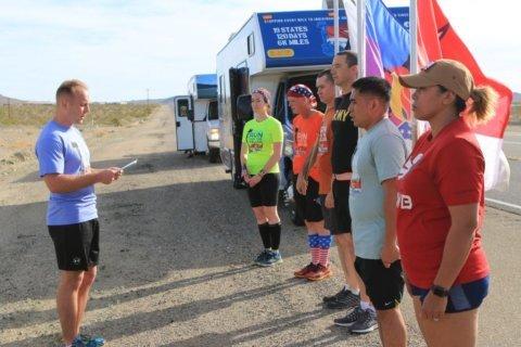 Nationwide relay run honoring America's fallen nears Arlington