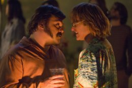 """This image released by Amazon Studios shows Jack Black, left, and Joaquin Phoenix in a scene from """"Don't Worry, He Won't Get Far On Foot."""" (Scott Patrick Green/Amazon Studios via AP)"""