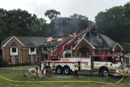 At 10:17 a.m., after nearly eight hours, the fire was placed under control. (Courtesy Howard County Fire and EMS via Twitter)