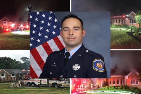 Howard Co. firefighter dies battling 7-alarm house fire in Clarksville