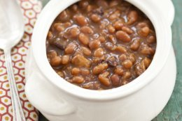 """This undated photo provided by America's Test Kitchen in June 2018 shows Boston baked beans in Brookline, Mass. This recipe appears in the cookbook """"The Complete Slow Cooker."""" (Daniel J. van Ackere/America's Test Kitchen via AP)"""