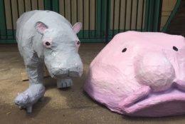 Kids get to make fun art attending Glen Echo Park's Carousel Animals Camp For Teens. (WTOP/Kristi King)