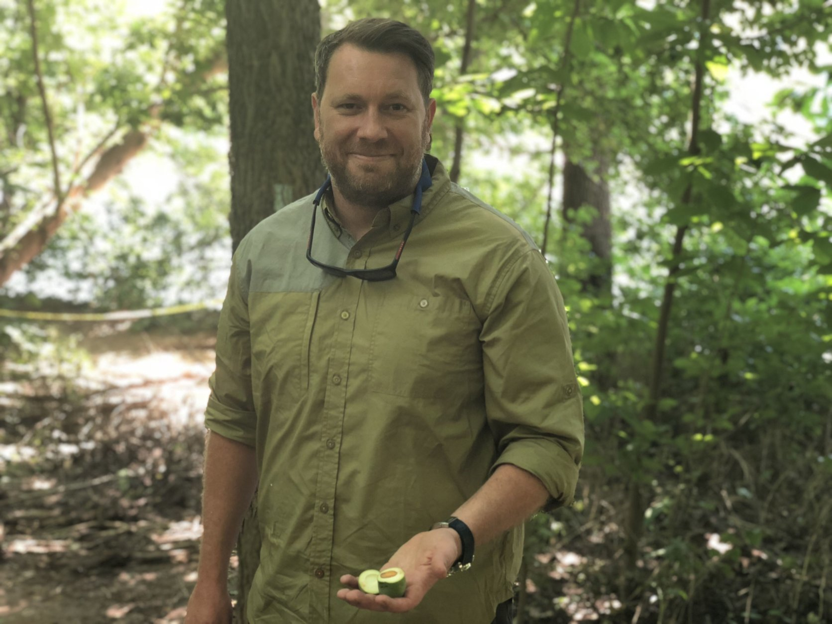 Bourbon Steak Executive Chef Drew Adams is an avid forager, and uses the foods he finds in the wild to shape his restaurant's menu. (WTOP/Rachel Nania)