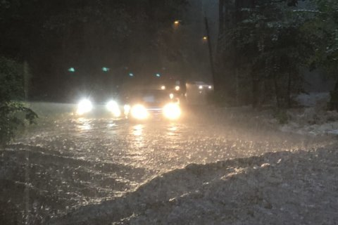 Rainfall gives way to flooded roads, bloated waterways around DC area