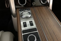 The wood trim, Nautica Veneer, is amazing to look at with a new patented form-following process that is on door panels and the steering wheel. (WTOP/Mike Parris)