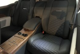 Front seats are heated and ventilated massage seats. They are finished in high quality semi-aniline leather. The back seats are also quite luxurious, mostly mimicking the front seats. (WTOP/Mike Parris)