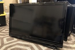 An LCD TV from the W Hotel. (Courtesy Rasmus Auctions)