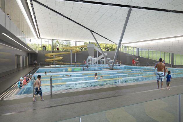 Long Bridge Park aquatics center family pool. (Courtesy Arlington County)