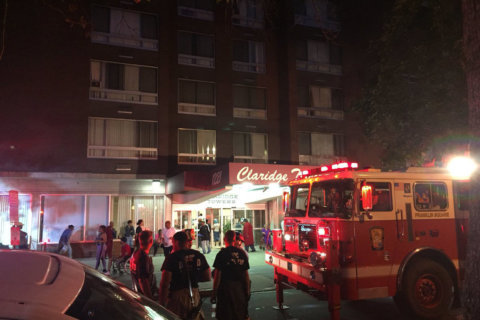 Man in critical condition after fire in downtown DC