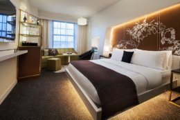 """""""Undergoing a monumental change like this during the building's historical centennial is a testament to the legacy of our hotel and the W brand that both boldly embrace change,"""" said Meade Atkeson, the hotel's general manager.(Credit: Marriott International)"""