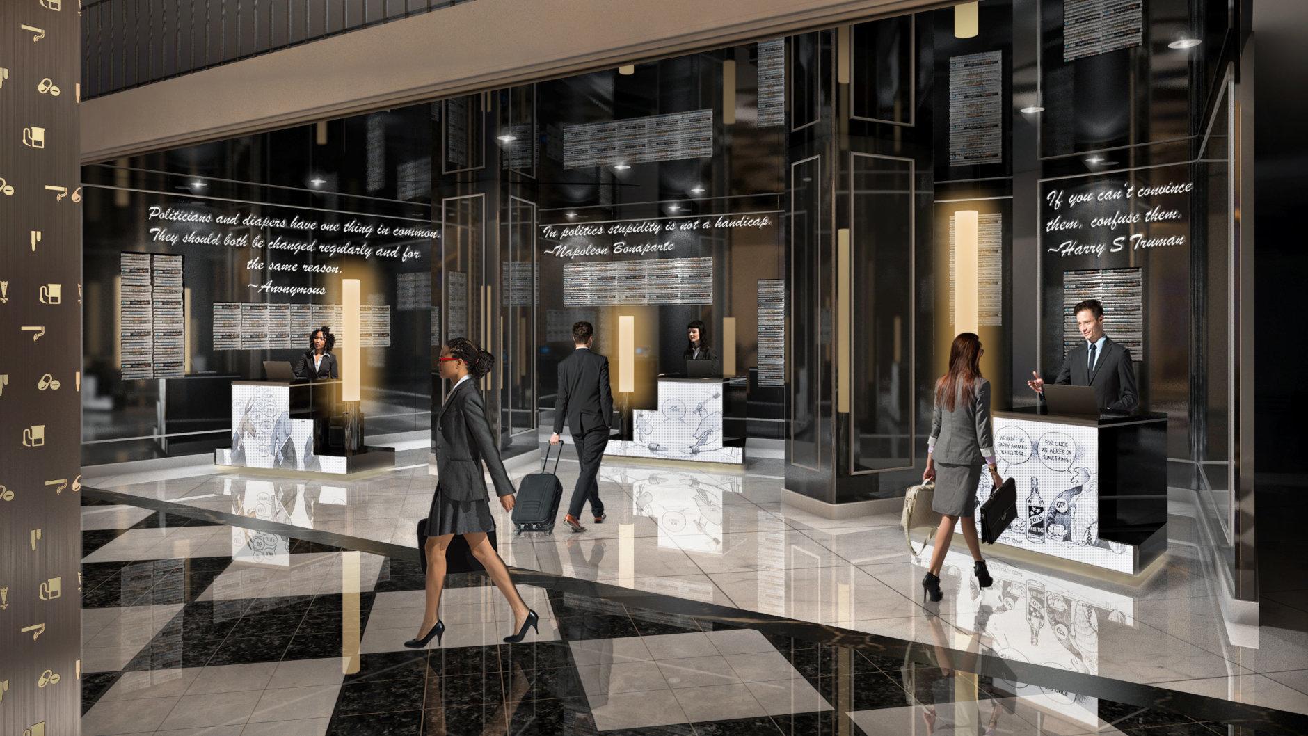 Marriott International will start a $50 million, top-to-bottom renovation of its W Washington DC, the former Hotel Washington it acquired in 2009. (Credit: Marriott International)