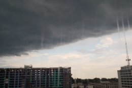 "Teresa Collier said, ""A storm is coming to downtown Silver Spring,"" on Friday, July 27, 2018. (Courtesy Teresa Collier)"