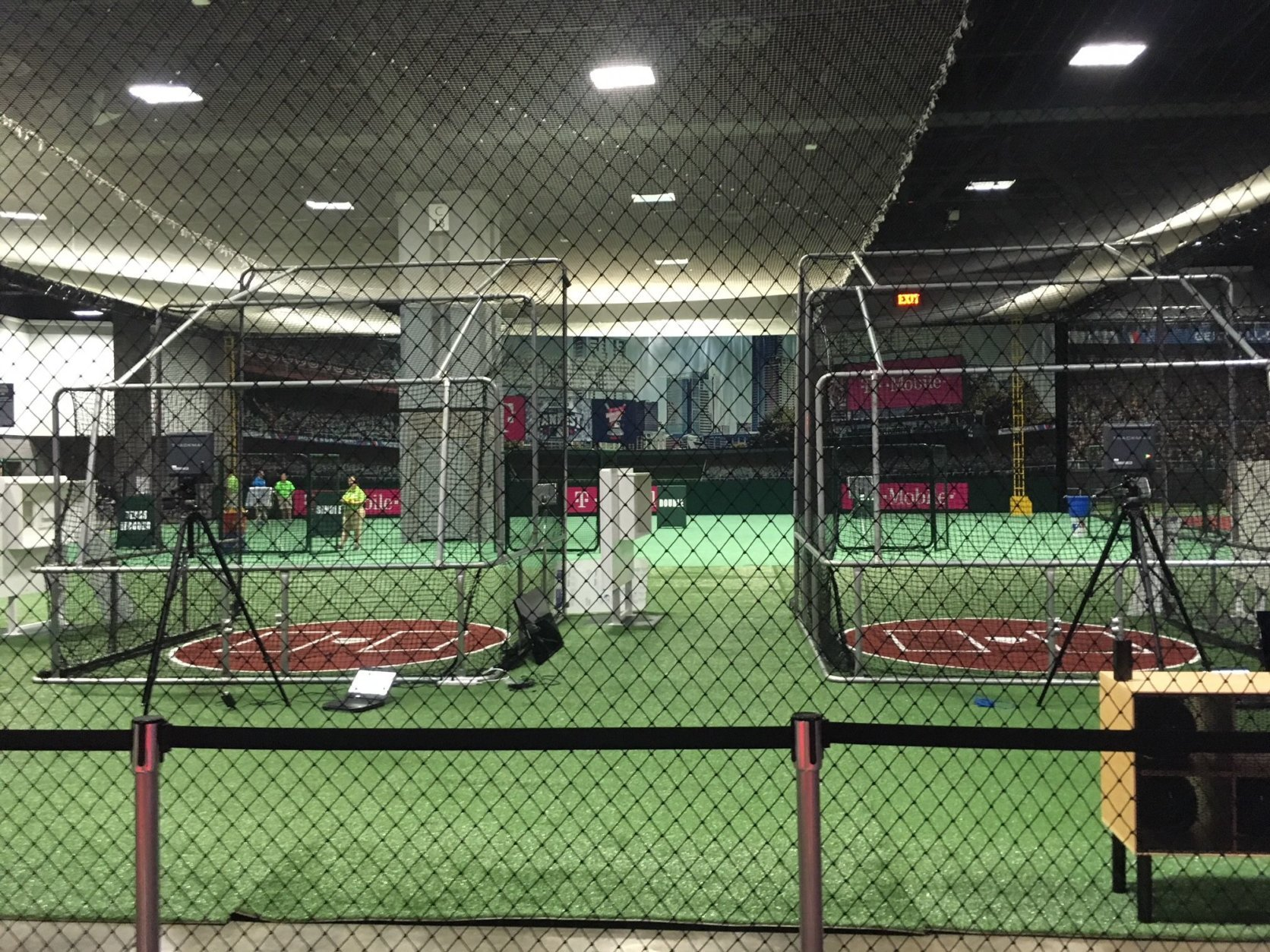 You can analyze your swing like the pros thanks to a Trackman setup that provides the same Statcast data used in MLB. (WTOP/Noah Frank)