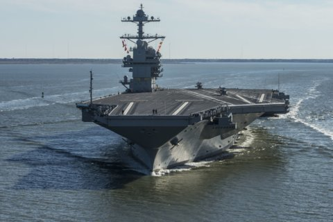 Nation's new aircraft carrier heads to sea for more tests
