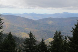 The western North Carolina mountains are seen from a lookout on the Blue Ridge Parkway in Asheville, North Carolina, on Friday, Oct. 21, 2016. Areas of the western Carolinas are in severe to extreme drought, with officials worried about wildfires and wilting crops. The South Carolina Drought Response Committee is meeting Wednesday, Oct. 26. (AP Photo/Bruce Smith)