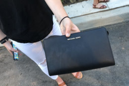 This type of purse must be stored in lockers at Audi Field during a D.C. United game on Saturday, July 28, 2018. (WTOP/Mike McMearty)