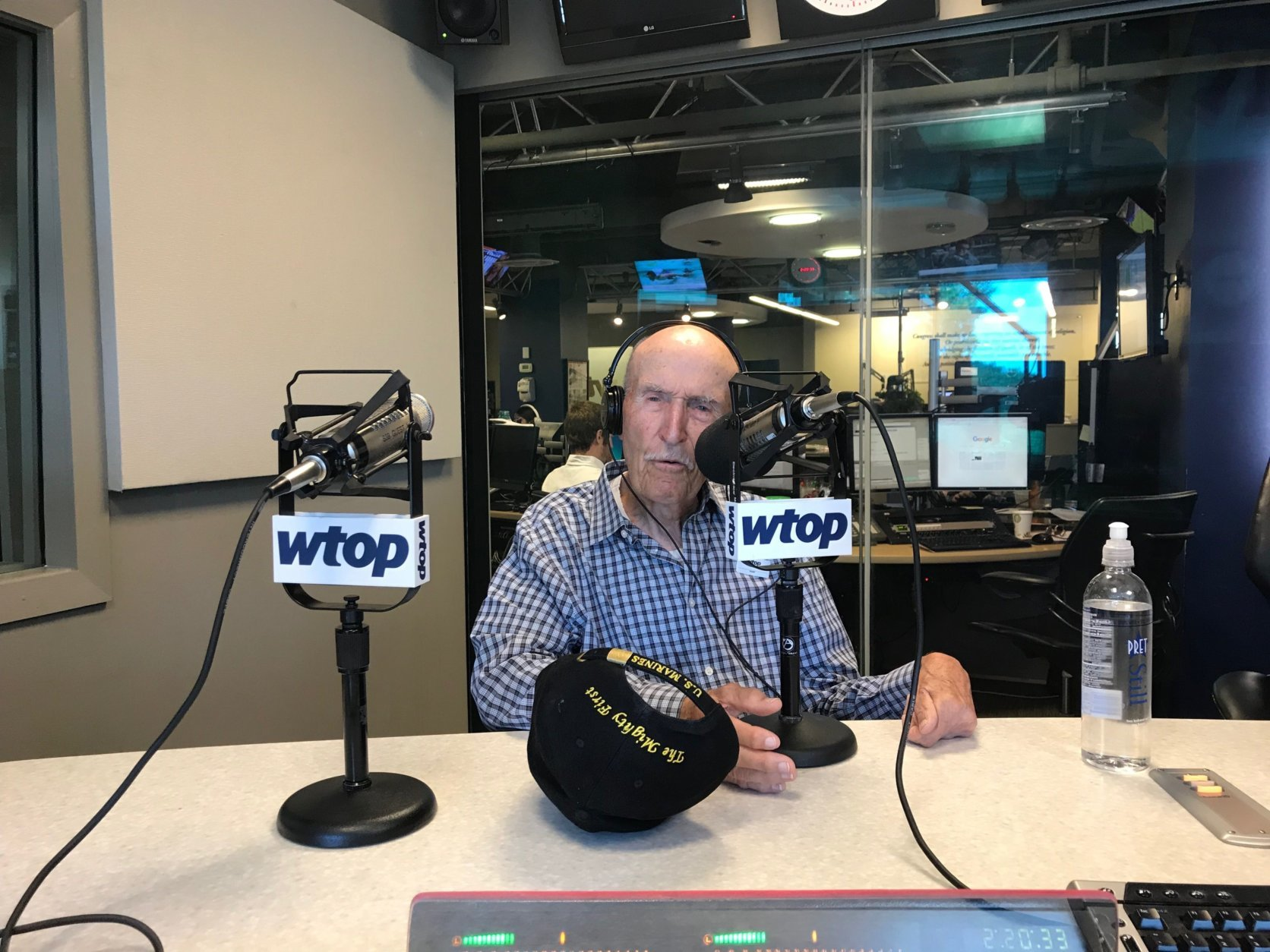 Ed Bearss, 95, talks with WTOP about watching the first All-Star game in 1933. (WTOP/Dick Uliano)