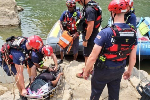 Photos: Hiker suffering from heat exhaustion rescued from Billy Goat Trail in Md.