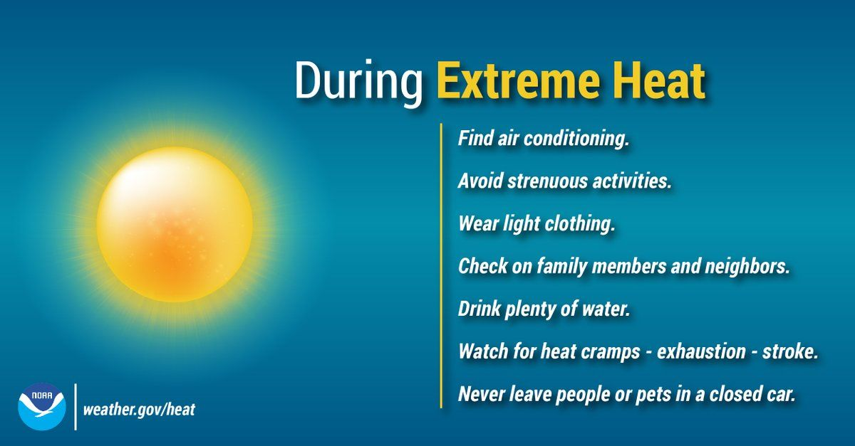 NWS shared some tips on how to beat the heat in these dangerous conditions. (Courtesy National Weather Service)