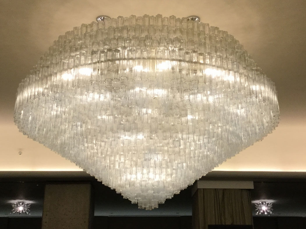 A crystal chandelier. (Courtesy Rasmus Auctions)
