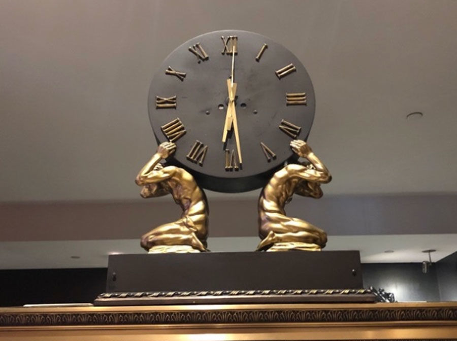 Beaux-Arts clock. As of July 31, the latest bid was at $551.30. (Courtesy Rasmus Auctions)