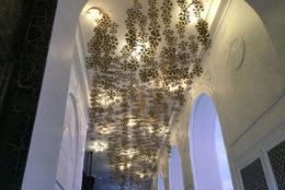 Gold hanging foil decor with over 120 individual accents. (Courtesy Rasmus Auctions)