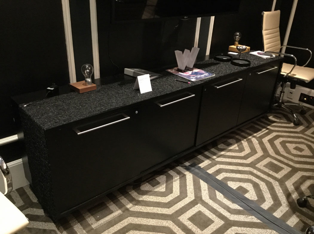 A black wood credenza. (Courtesy Rasmus Auctions)