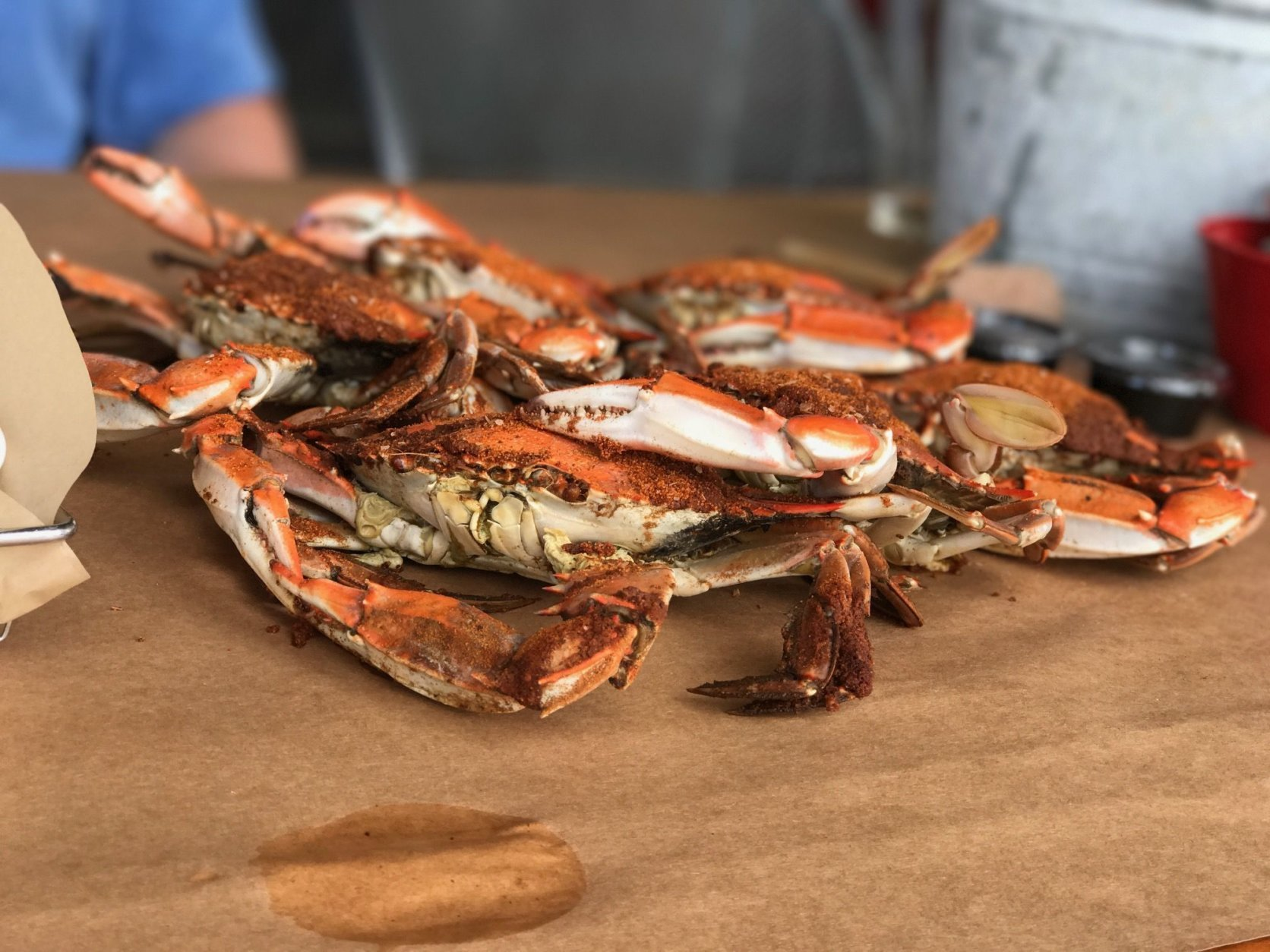 Maryland crabs are in season April through October. (WTOP/Ginger Whitaker)