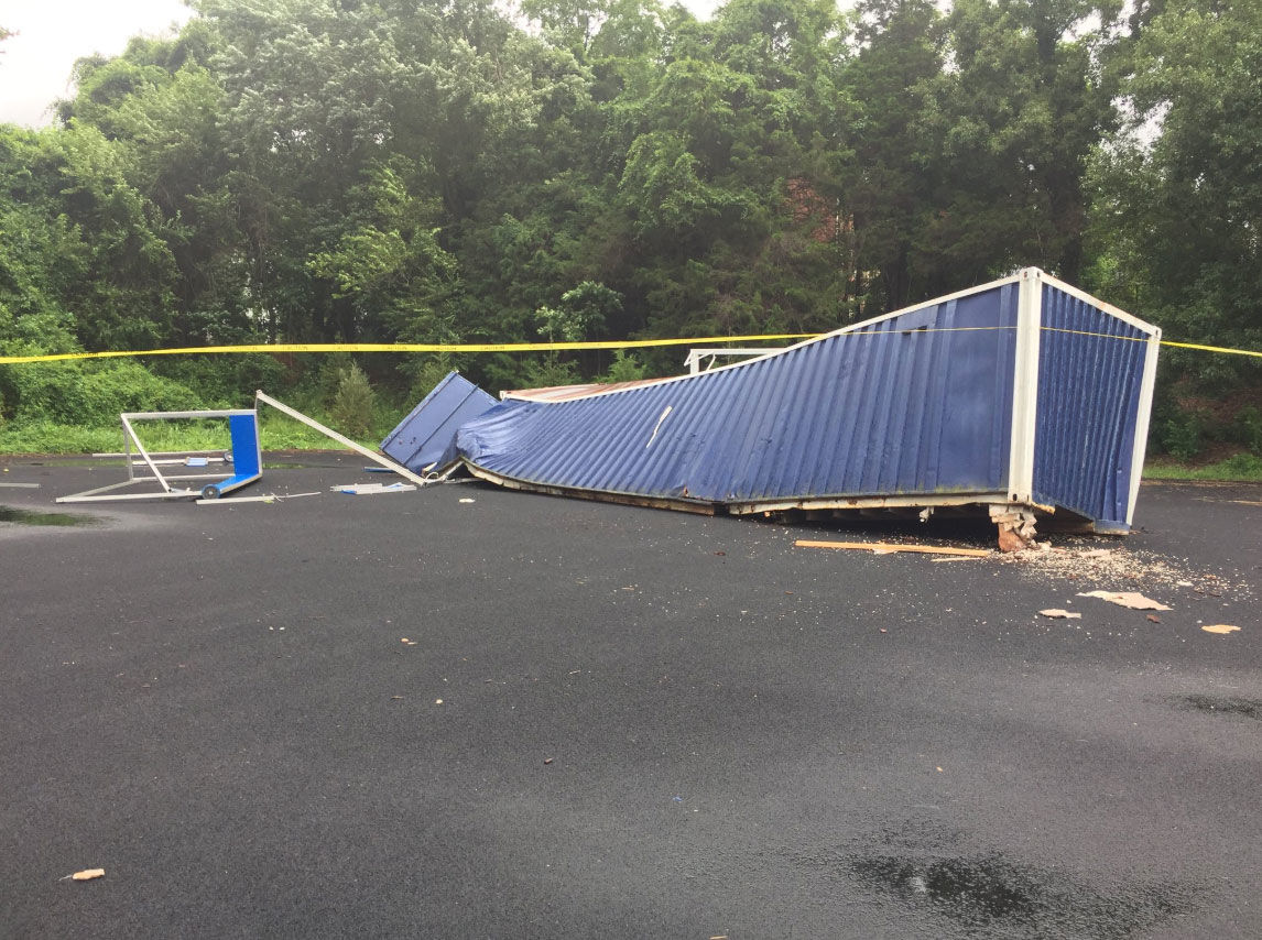 Tornado touches down briefly near Fairfax Co  high school | WTOP