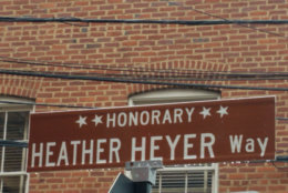 Charlottesville designated a portion of 4th Street in Heyer's memory. (WTOP/Lisa Weiner)