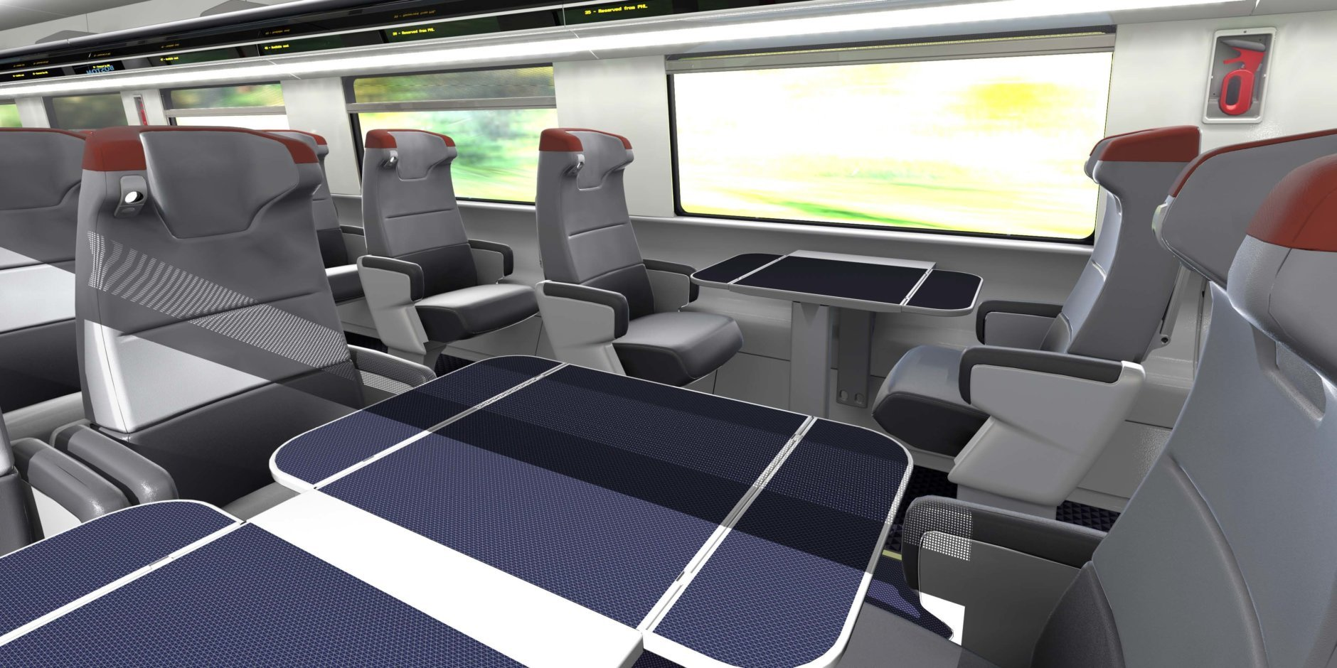An illustration of the new first-class section. (Courtesy Amtrak)
