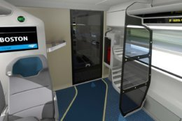 The new trainsets will include Wi-Fi, an advanced seat reservation system, and LED screens in each train car that will provide real time information. (Courtesy Amtrak)