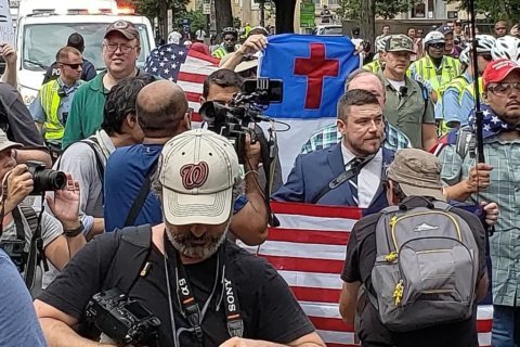 PHOTOS: White nationalist, counterprotester events in DC area