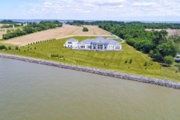 The Love Point estate in Stevensville, Maryland, sits on private land overlooking the Chesapeake Bay. (Courtesy Phil and Victoria Gerdes)