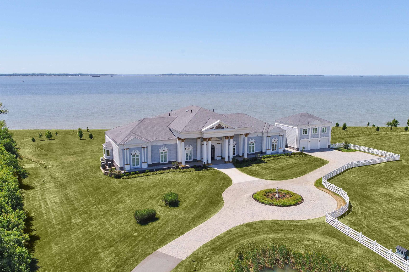 The Love Point estate sits on private land overlooking the Chesapeake Bay. (Courtesy Phil and Victoria Gerdes)