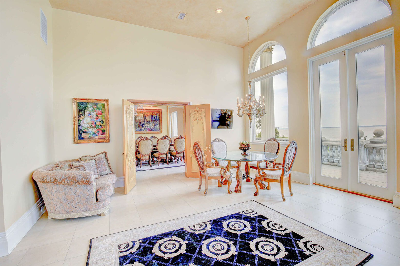 The Love Point estate in Stevensville, Maryland, just hit the market and features four bedrooms, 5 full and 2 half bathrooms, 9,474 square feet of space. (Courtesy Phil and Victoria Gerdes)