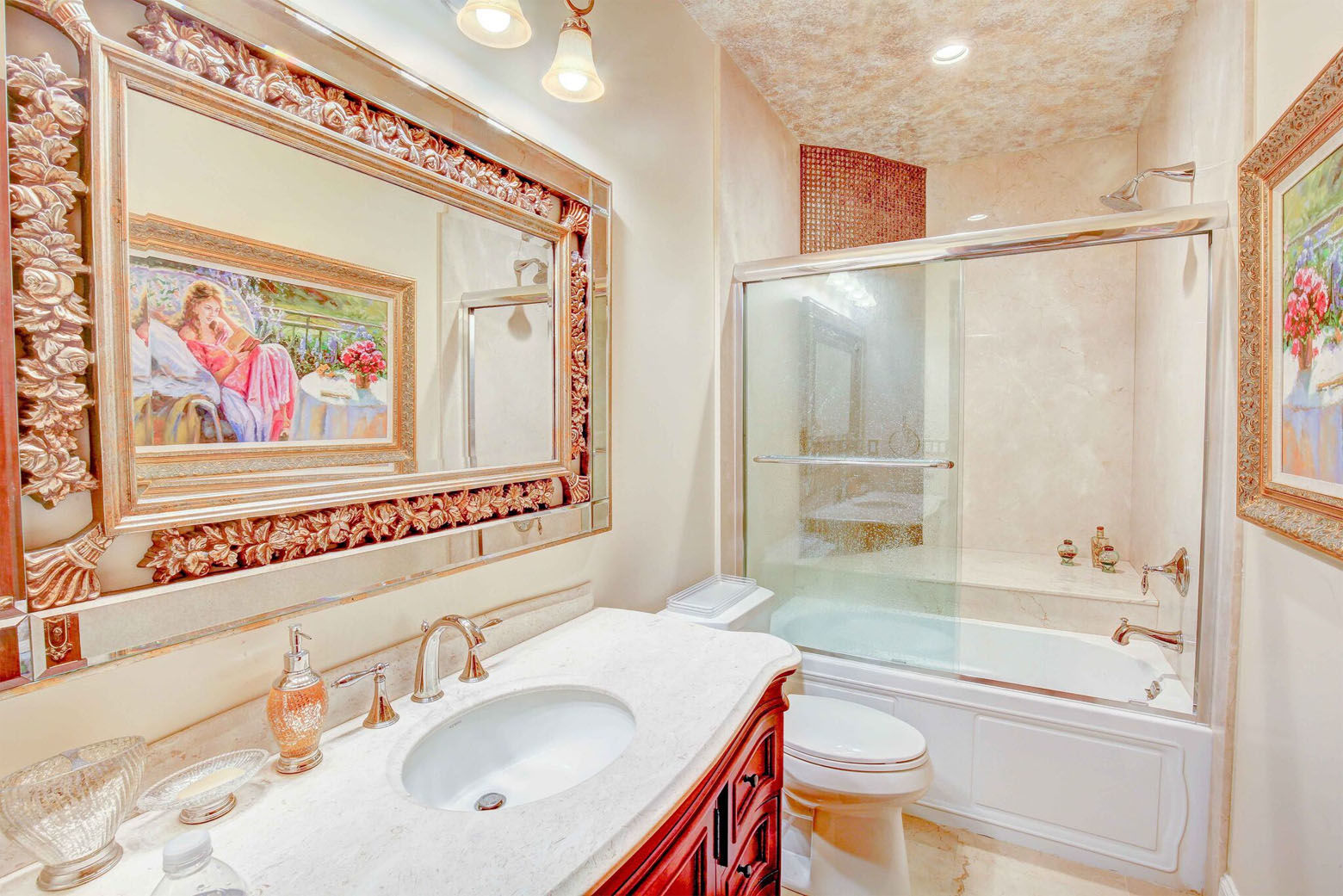 The Love Point estate features 5 full and 2 half bathrooms. (Courtesy Phil and Victoria Gerdes)