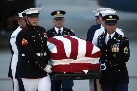 WATCH: Rain falls as John McCain's casket escorted into Capitol