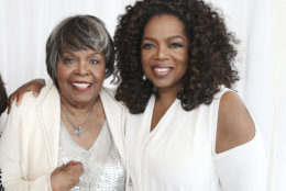 "This image released by Harpo Inc. shows media mogul Oprah Winfrey, right, with her mother Vernita Lee.  A Winfrey spokeswoman issued a statement, Monday, Nov. 26, 2018, saying <a href=""https://wtop.com/national/2018/11/oprah-winfreys-mother-vernita-lee-dies-at-83/"">Lee died at her Milwaukee home on Nov. 22.</a>  She was 83. (George Burns/Harpo Inc. via AP)"