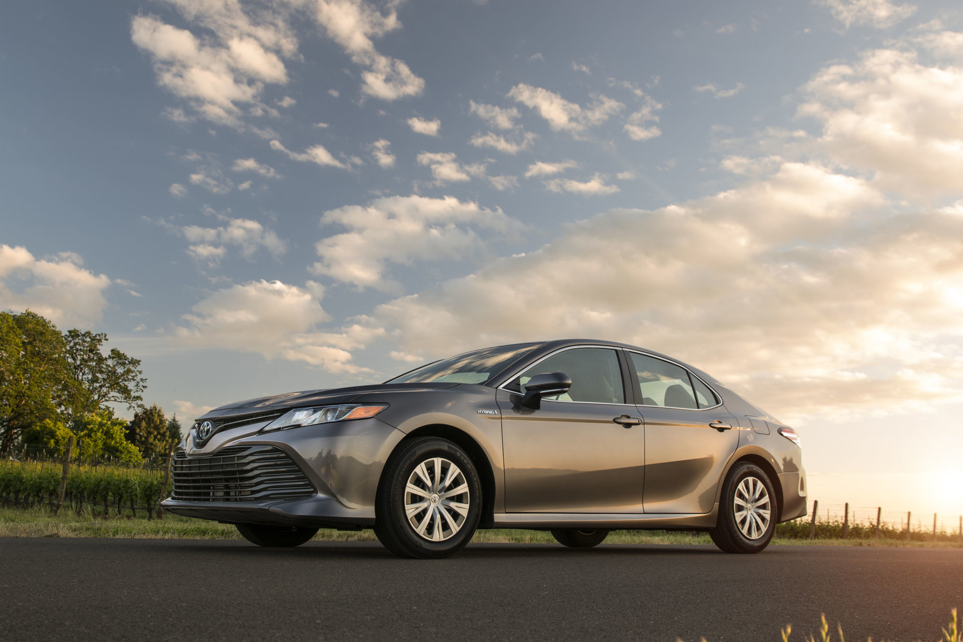 Best New Car for Teens $35,000 to $40,000:  The 2018 Toyota Camry Hybrid  (Courtesy Toyota Motor Sales USA)