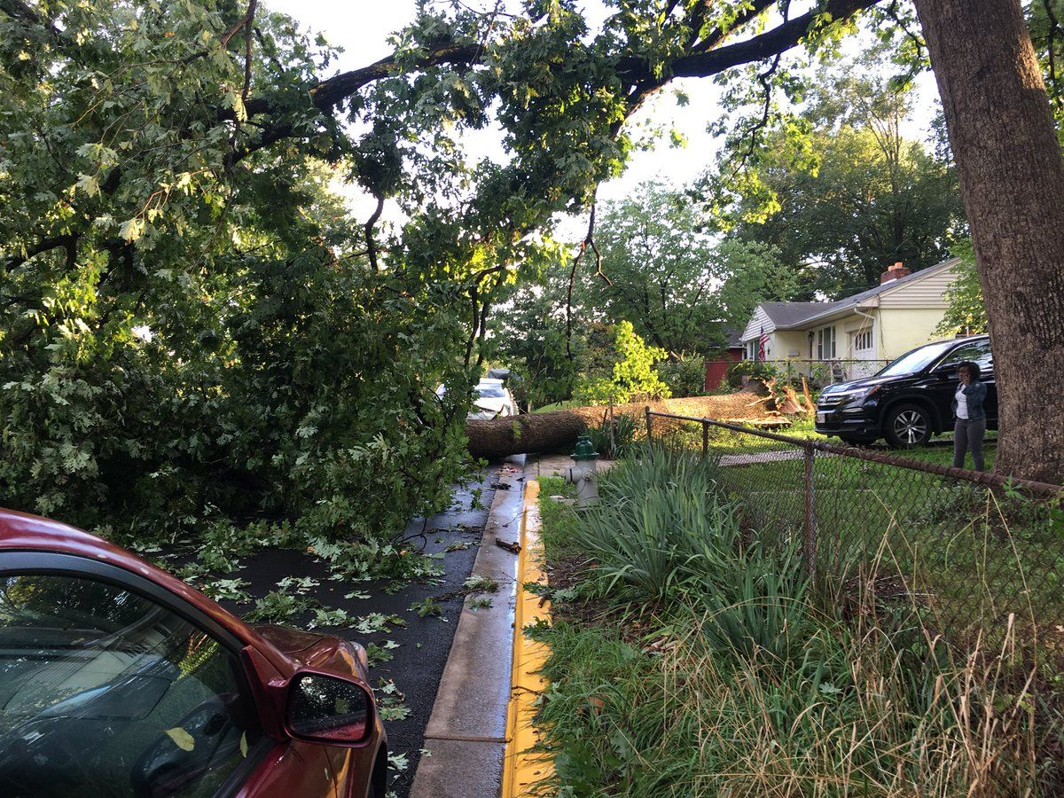 Parts of Prince George's County, including College Park, were included in severe storm warnings issued late Monday afternoon by the National Weather Service. (Courtesy City of College Park)